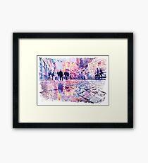 Dublin Watercolor Streetscape Framed Print