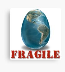 Earth-Fragile Canvas Print