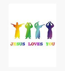Jesus Loves You (YMCA Image & Slogan) Photographic Print