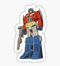 Retro Optimus Prime G1 Comics Sticker