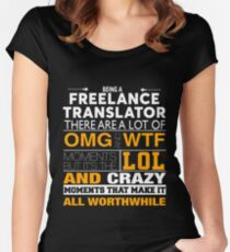 FREELANCE TRANSLATOR BEST COLLECTION 2017 Women's Fitted Scoop T-Shirt