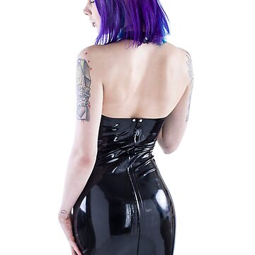 Gothic in a latex Dress by Guldor