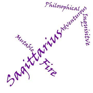 Sagittarius Symbol Typography by SamoyedOfValor