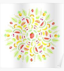 Fresh Fruits Mandala Poster