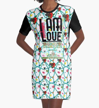 I am Love Graphic T-Shirt Dress