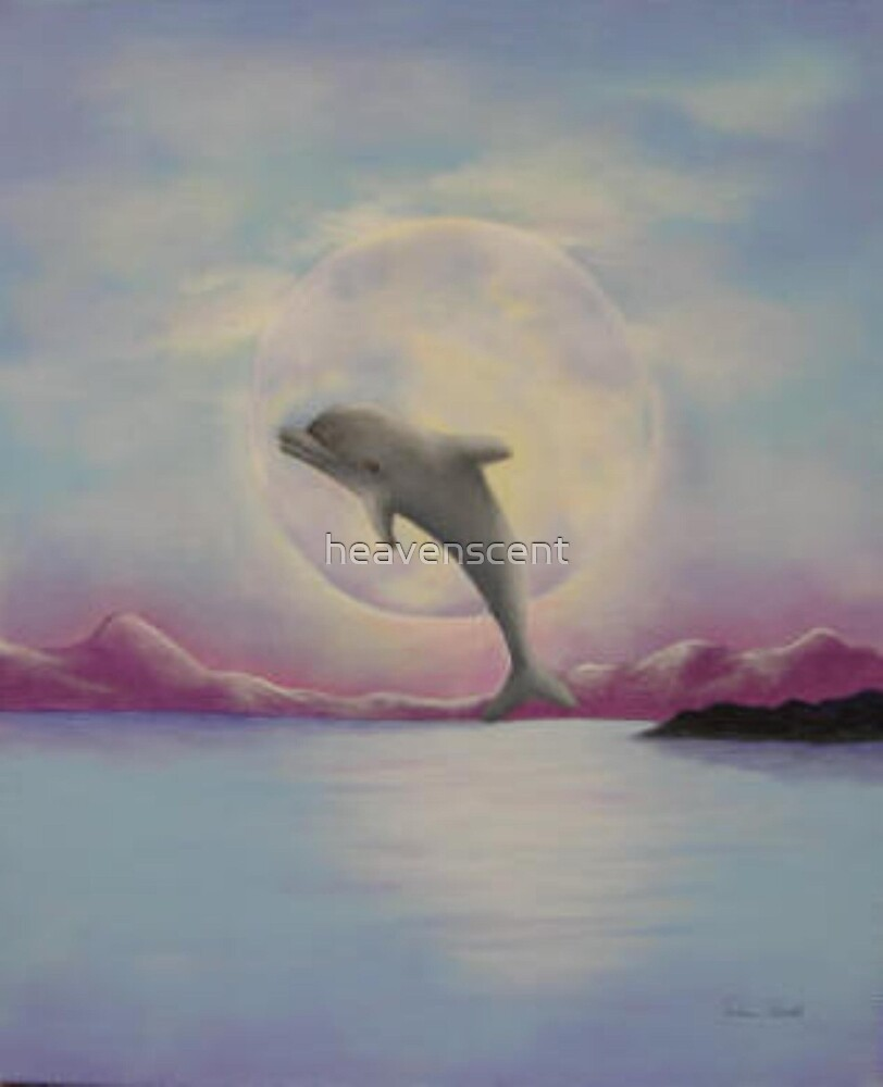 Moonlit Dolphin by heavenscent