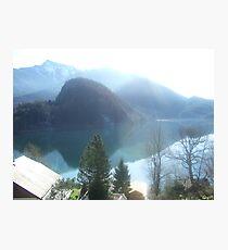 View of Lake Wofgangsee - St Gilgen Austria Photographic Print
