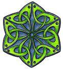 Celtic Trefoil Hexagon by Carrie Dennison