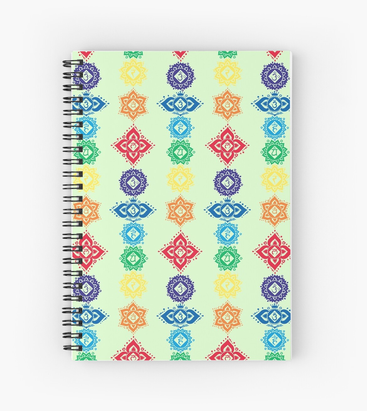 Floral Seven 7 Chakra Symbols For Yoga Spiral Notebooks By Buy Cool