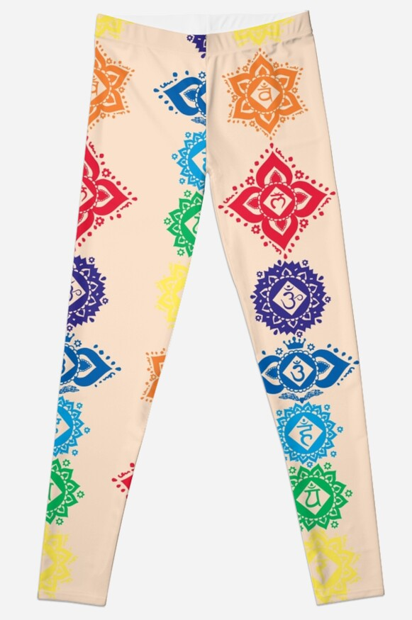 Floral Seven 7 Chakra Symbols For Yoga Leggings By Buy Cool Shirts