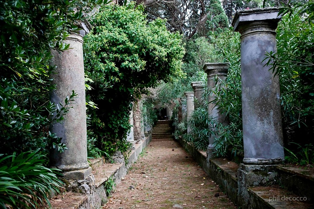 Garden Path To Villa by phil decocco