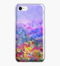 Flower Garden Acrylic Painting iPhone Case/Skin