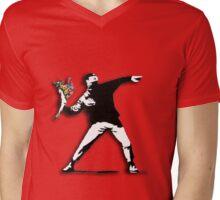 Banksy Anarchist Mens V-Neck T-Shirt