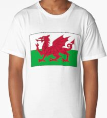 WALES, WELSH FLAG, FLAG OF WALES, RED DRAGON, Welsh Long T-Shirt