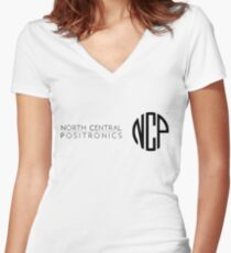 North Central Positronics Women's Fitted V-Neck T-Shirt