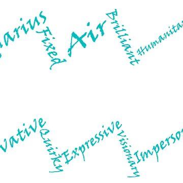 Aquarius Symbol Typography by SamoyedOfValor