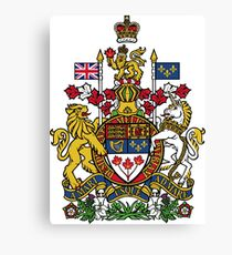 Canadian Coat Of Arms Canvas Print
