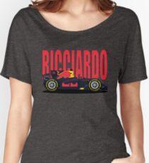 Ricciardo NO SPONSOR F1 Car Women's Relaxed Fit T-Shirt