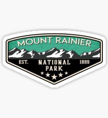 MOUNT RAINIER NATIONAL PARK WASHINGTON MOUNTAINS NATURE EXPLORE CAMPER LAPTOP Sticker