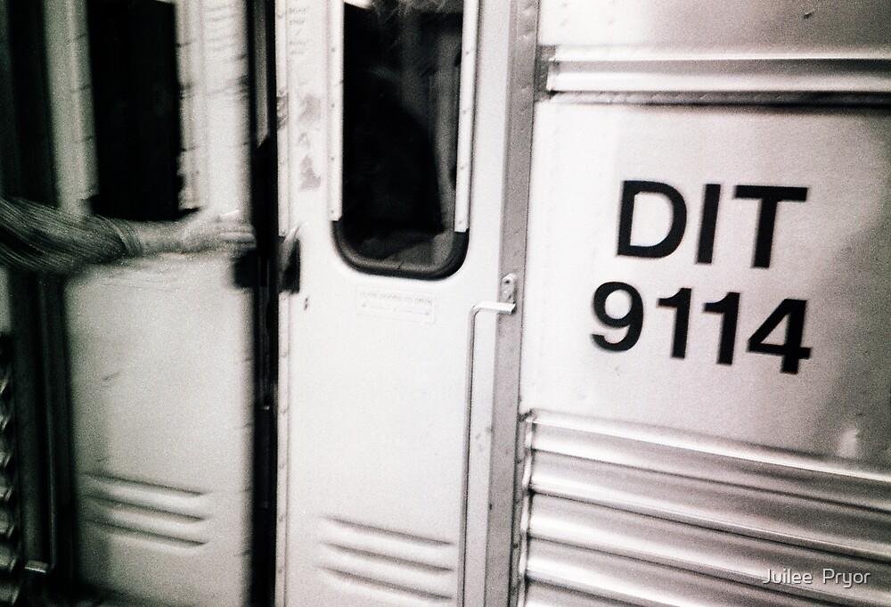 DIT 9114 (detainee intertransport train) dock #9114 by Juilee  Pryor