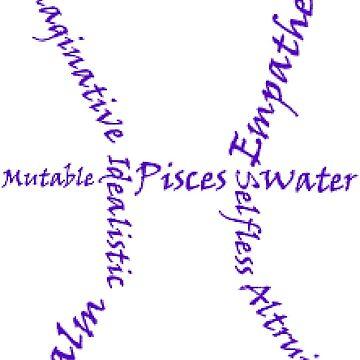 Pisces Symbol Typography by SamoyedOfValor