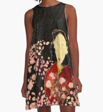Ume with Cherry Blossoms A-Line Dress