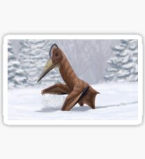 Pterosaur Snow Day Sticker