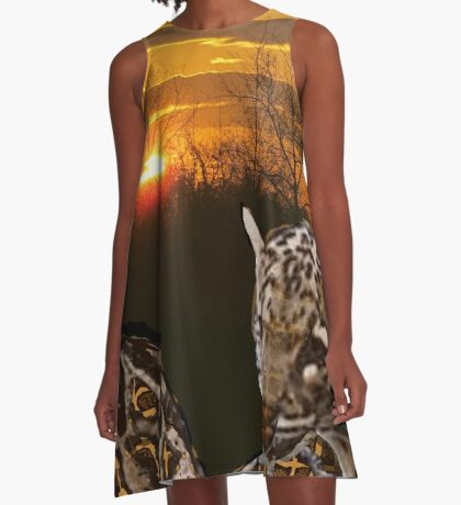 Fire Leopard A-Line Dress