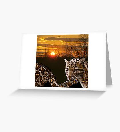 Fire Leopard Greeting Card
