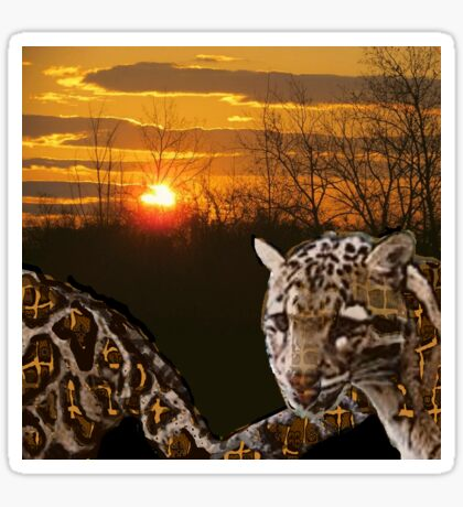 Fire Leopard Sticker