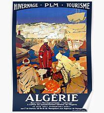 Weinlese-Algerien-Reise Poster
