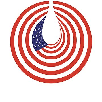 AMERICA, Tear Drop, SAD, USA, Grief, Sadness, In Circle, ON WHITE by TOMSREDBUBBLE