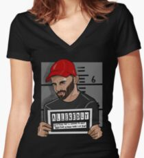 """Bruce Jackson """"Allegedly""""  Women's Fitted V-Neck T-Shirt"""