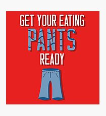 Eating Pants Photographic Print