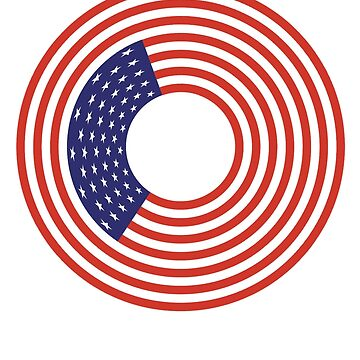 Stars & Stripes, Ring, America, GOING FULL CIRCLE, American Target, America, American, Circle, Flag, CIRCLE, USA, American, Americana by TOMSREDBUBBLE