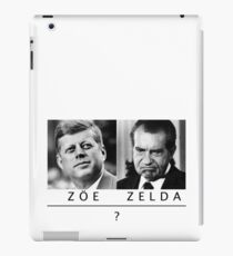 are you a zoe or a zelda? iPad Case/Skin