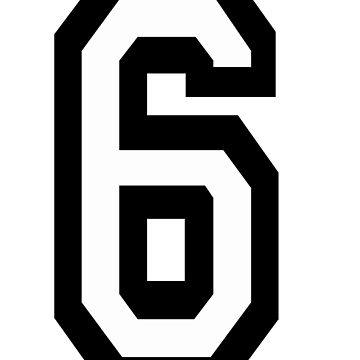 6, TEAM, SPORTS, NUMBER 6, SIX, SIXTH, Competition by TOMSREDBUBBLE