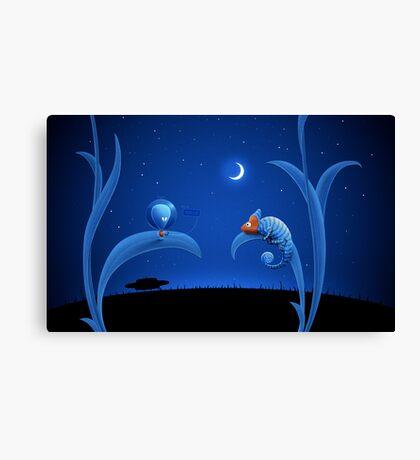 Alien and Chameleon Canvas Print