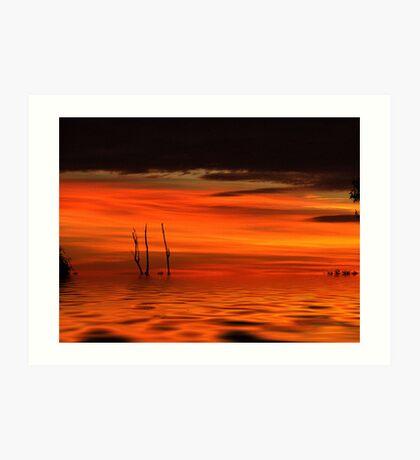 Desert floods... Art Print