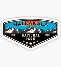 HALEAKALA NATIONAL PARK HAWAII VOLCANO HIKING NATURE EXPLORE CAMPER Sticker