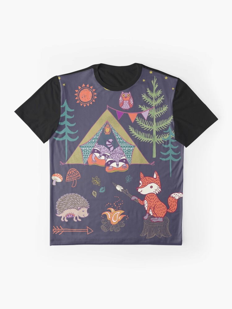 Alternate view of Woodland Animals Campout Graphic T-Shirt