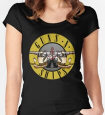 guns n ships Women's Fitted Scoop T-Shirt