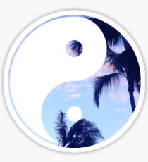 Palm Trees Yin Yang Sticker