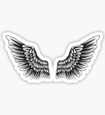 Wings Neck Tattoo  Sticker