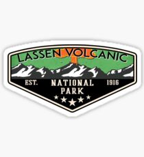 LASSEN VOLCANIC NATIONAL PARK CALIFORNIA MOUNTAINS VOLCANO CAMPER Sticker