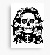 Lady Skull Canvas Print