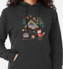 Waldtiere Campout Leichter Hoodie