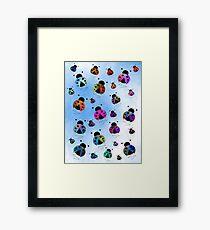Ladybugs In Flight Framed Print