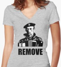 Remove Kebab Women's Fitted V-Neck T-Shirt