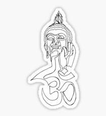 Buddha - One line Drawing Sticker